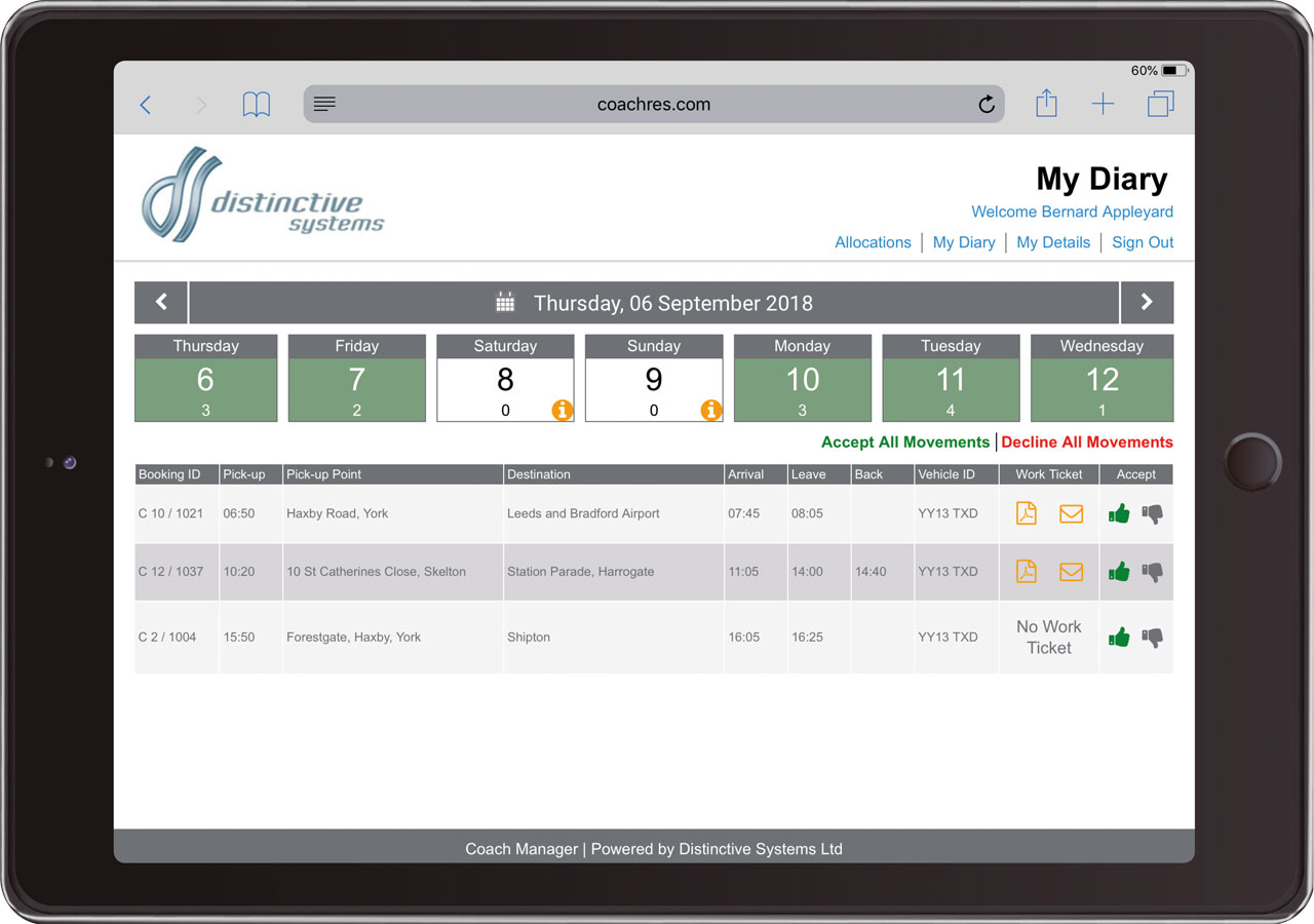 Operations Portal Released for Distinctive Systems Coach Manager