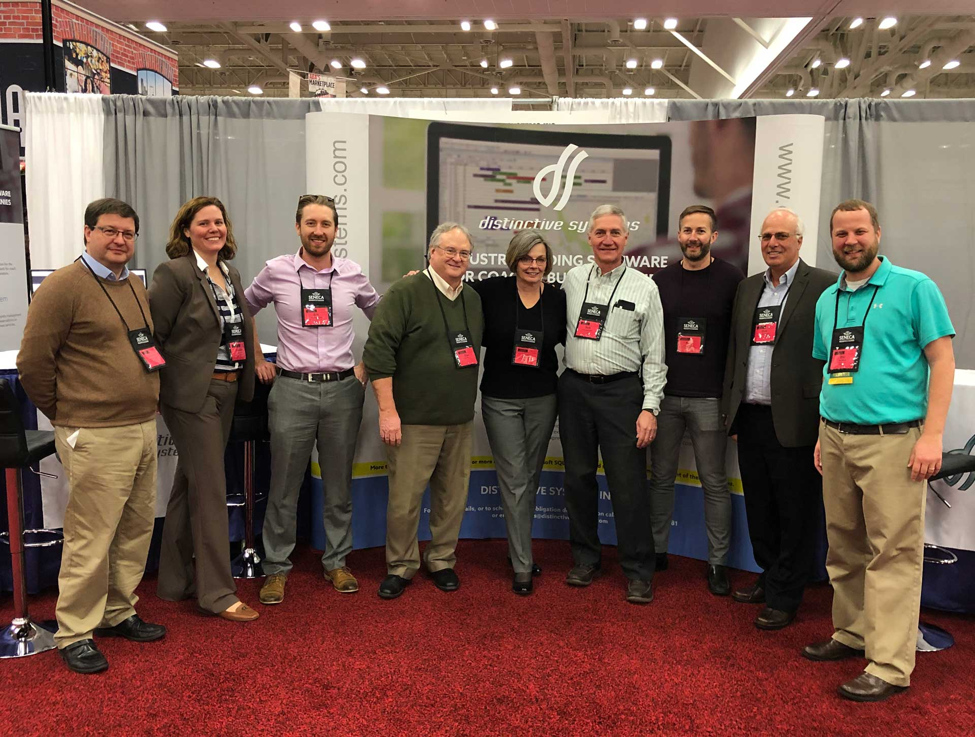The Distinctive Systems Inc team at the ABA Marketplace 2019 in Louisville, KY.